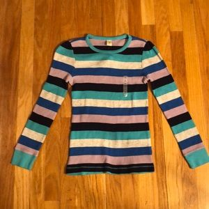 NEW Striped Waffle knit Top